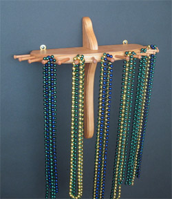 9-Peg, Large Single-Tier Necklace Holder