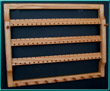 3-Tier Extra Wide Oak Earring Holder